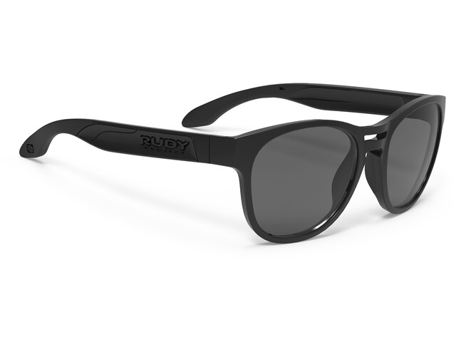 Rudy Project Spinair 56 Sunglasses Black Gloss - RP Optics Smoke Black